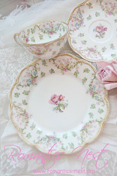 Haviland limoges - 모브로즈 컵& 소서 and.....(sch#72)