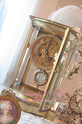 one moment in time.....1850s MAGNIFICENT clock !!! French Bronze 보석총총 그리고 HP 아이보리 속 그녀....