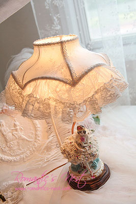 Antique dresden lamp - sweetly ballerina.......