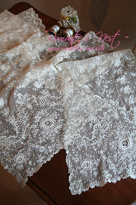 more romantically ....   Tambour Lace....